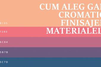 Lectia 4: Cum aleg gama cromatică, finisajele, materialele?