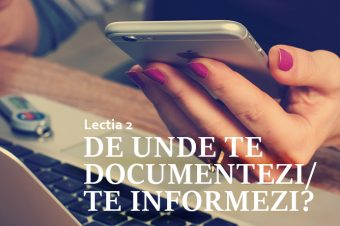 Lectia 2: De unde te documentezi/te informezi?