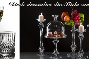 Obiecte decorative din Sticlă sau Cristal