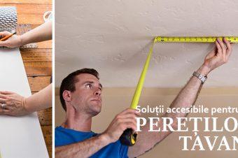 Soluții accesibile pentru îndreptarea pereților și a tavanului