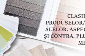 Clasificarea produselor/materialelor. Aspecte pro și contra. Plusuri și minusuri