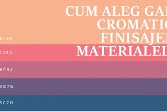 Cum aleg gama cromatică, finisajele, materialele pentru un proiect de design interior?