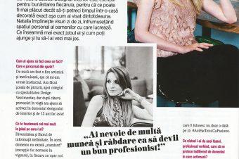 Cum am ajuns designer de interior, Cosmopolitan Romania, februarie 2018