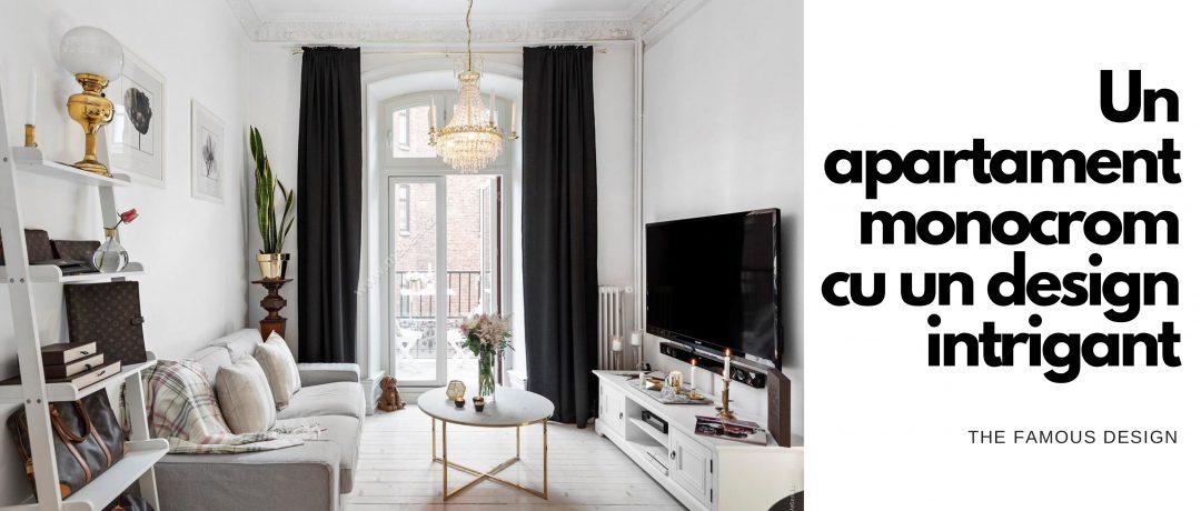 Un apartament monocrom cu un design intrigant