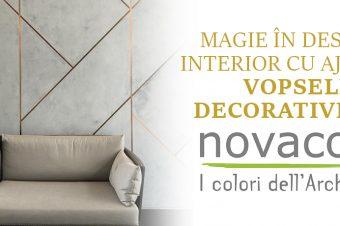 Magie în designul interior cu ajutorul vopselei decorative de la Novacolor