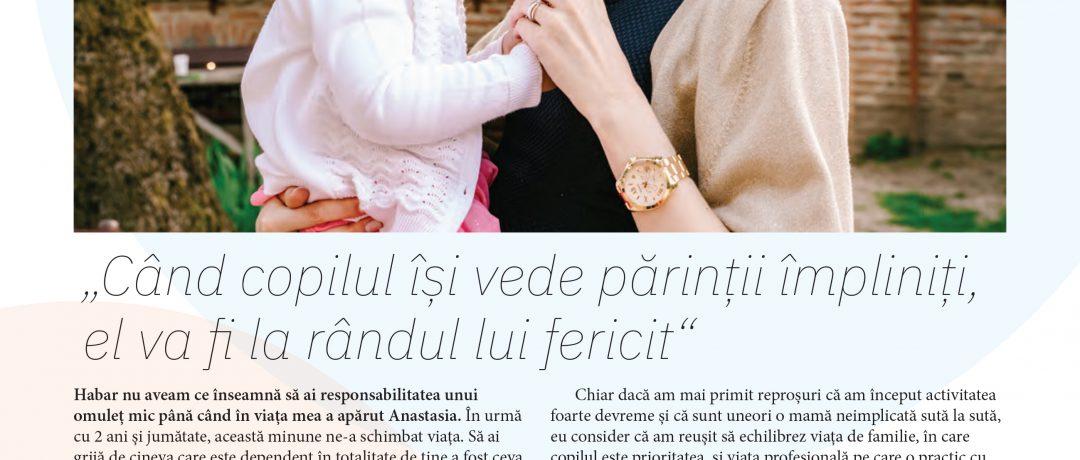 Articol în rubrica ÎNTRE NOI PARINȚII, Forbes Kids nr.3