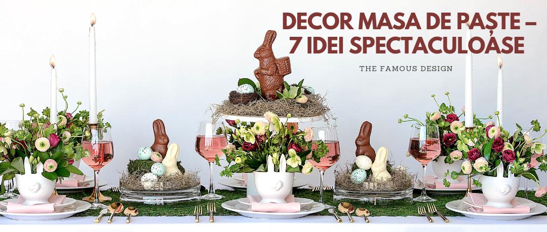 Decor masa de Paște – 7 idei spectaculoase